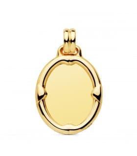 Chapa Oval Brillo Oro 18K 23mm