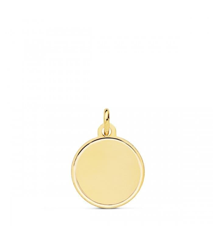 Chapa Redonda Oro 18K 14mm Bisel