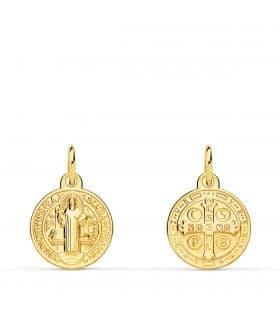 Escapulario San Benito Medalla Oro Amarillo 18 kilates