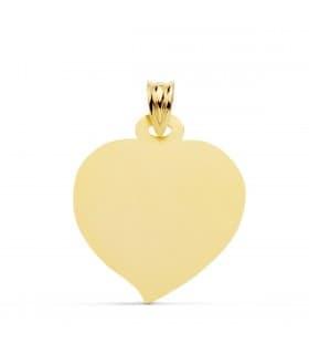 Chapa Colgante Corazón Oro Amarillo 18K 23 mm
