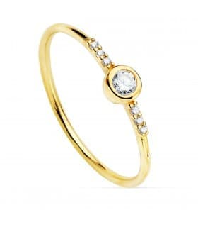 Anillo Hayworth Oro Amarillo 18K Diamantes 0.140 Qts.