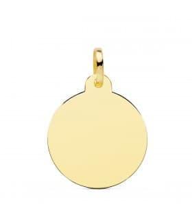 Chapa Redonda Oro 18K 24 mm Brillo colgate personalizado joya con fotografia