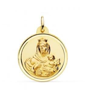 Medalla Virgen Carmen bisel 28mm