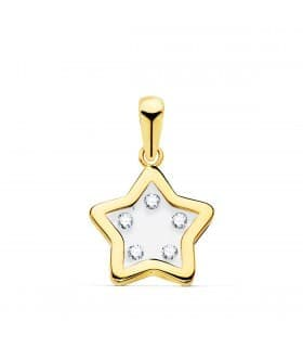Colgante Gravity Oro Amarillo 18K Estrella