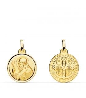 Medalla San Benito 18 Ktes 16mm