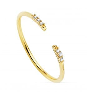 Anillo Leigh Oro Amarillo 18K Diamantes 0.030 Qts.