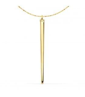 Collar Oro Amarillo 18K Barra Pincho