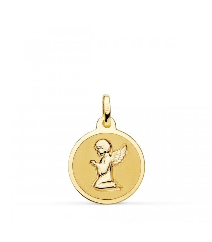 Medalla Ángel Bebé Oro 18K Brillo 16mm