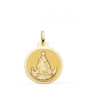 Medalla Virgen Caridad del Cobre Cuba Oro 18k 24mm