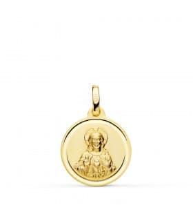 Sagrado Corazón de Jesús Bisel Oro 18K 16 mm