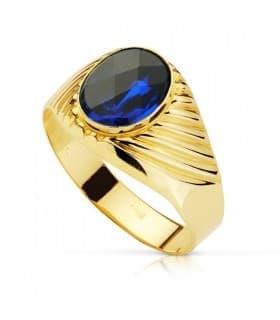 Sello caballero Roberto Oro 18K Espinela Azul
