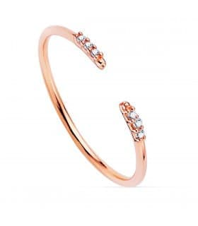 Anillo Leigh Oro Rosa 18K Diamantes 0.030 Qts.