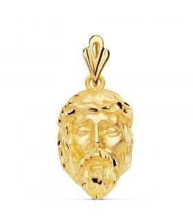 Colgante Rostro Cristo Oro Amarillo 18K 25x17 mm