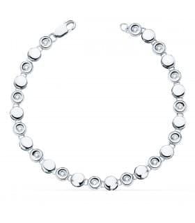 Pulsera Riviere Diamantes 0.240 Qts. Oro Blanco 18K
