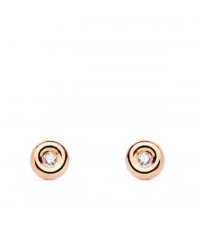 Pendientes Delicia Diamantes 0.040 Qts. Oro Rosa 18K
