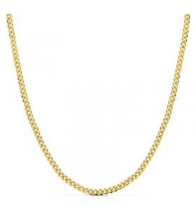 Cadena oro amarillo Barbada 18 Ktes 50 cm collar mujer hombre unisex colgante comunión