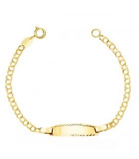 Esclava Bebé Oro Amarillo 18K Hungarina 13.5 cm
