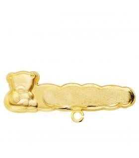 Alfiler Bebé Oro Amarillo 18K Osito Nube