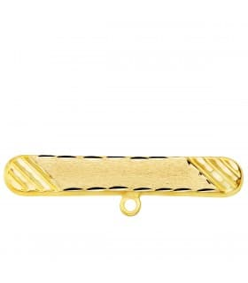 Alfiler Bebé Oro Amarillo 18K Ovalado tallado
