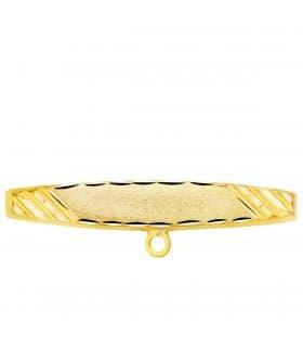 Alfiler Bebé Oro Amarillo 18K Hoja