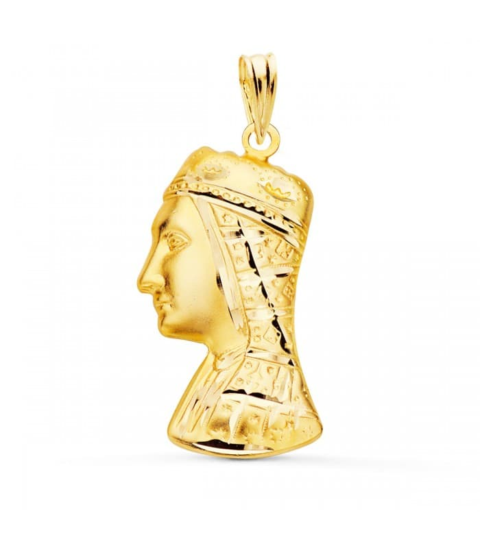 Medalla Silueta Virgen de Montserrat Oro 18K 25 mm