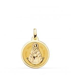 Medalla Virgen del Carmen 18ktes mini