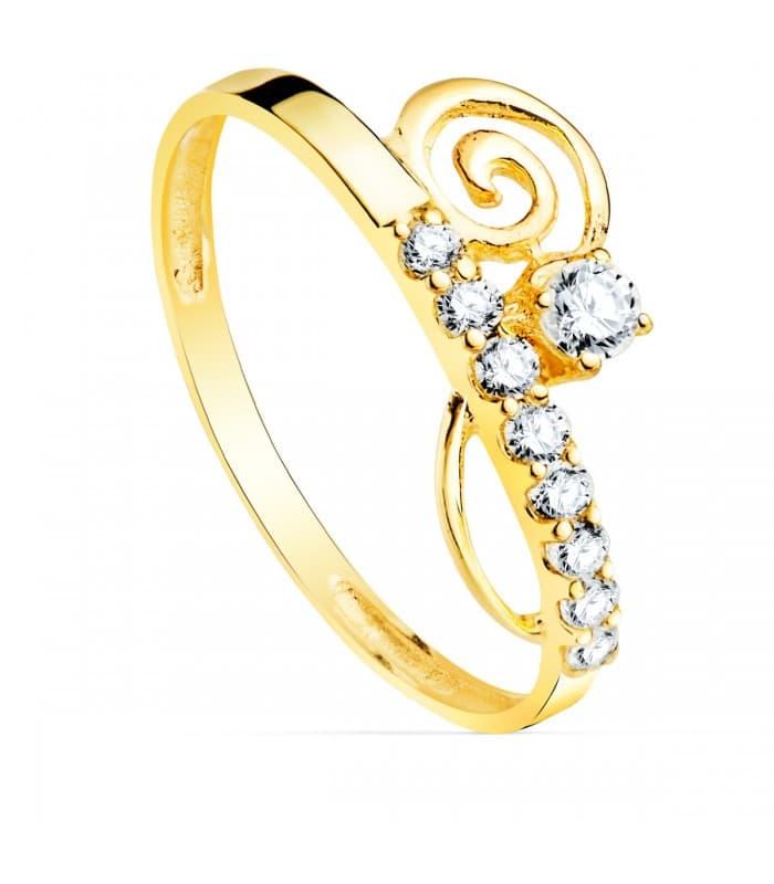 Sortija Mujer Oro Amarillo 9K Espiral