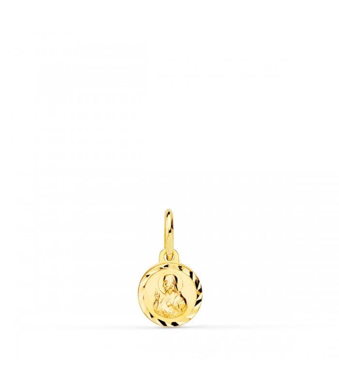 Medalla Corazón de Jesús mini oro 18ktes