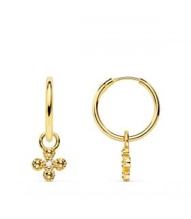 Pendientes Aro Croix Oro Amarillo 18k