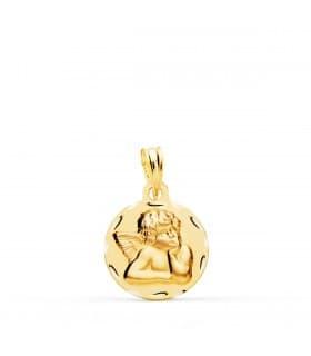 Medalla para bebé de ángel de la guarda - oro 18 kilates - joyeria online
