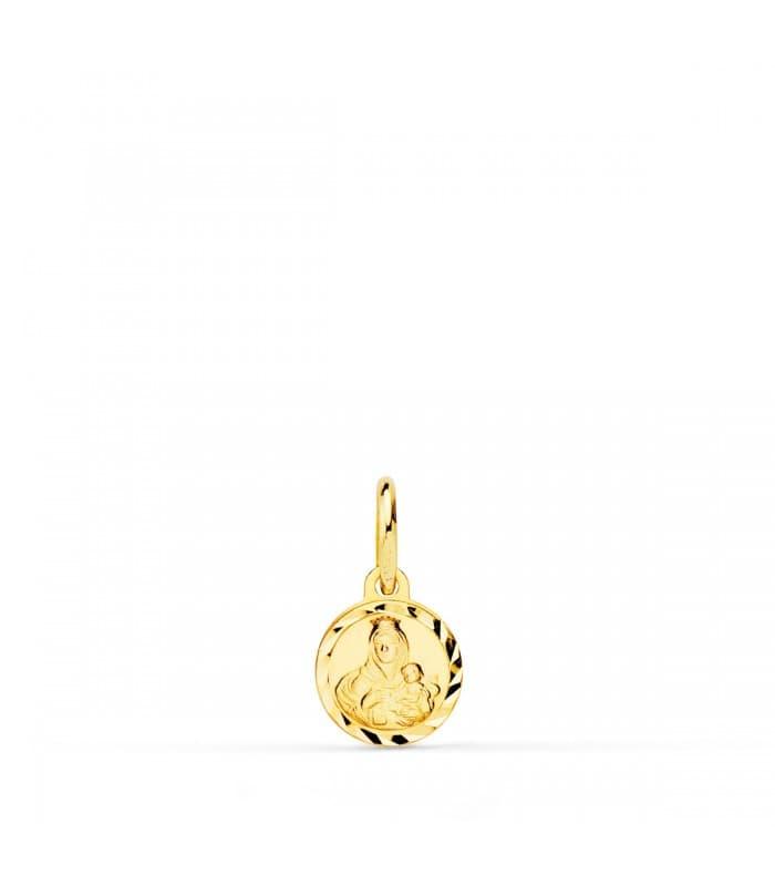 Medalla Virgen del Carmen mini oro 18ktes