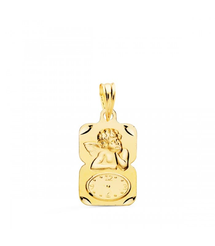 Medalla ángel y reloj diseño oro 18ktes