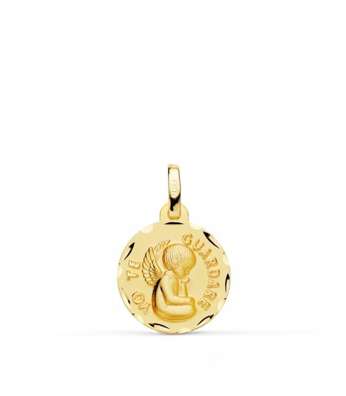 Medalla ángel de la guarda pequeña oro 18ktes