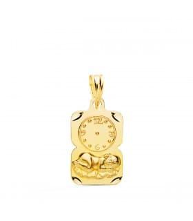 Medalla niño y reloj diseño oro 18ktes