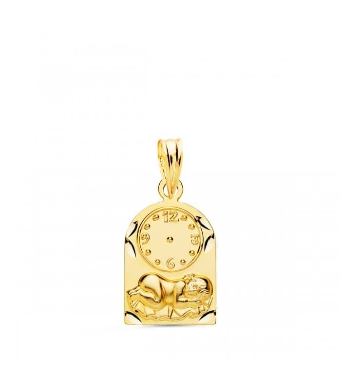 Medalla niño y reloj capilla oro 18ktes