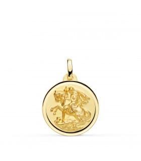 Medalla San Jorge Oro 18K 18mm Bisel - COMPRAR JOYAS ONLINE