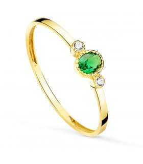 Anillo Green Oro Amarillo 18K Always