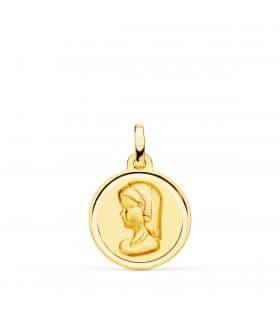 Medalla Virgen niña bisel