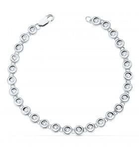 Pulsera Riviere Diamantes 0.434 Qts. Oro Blanco 18K
