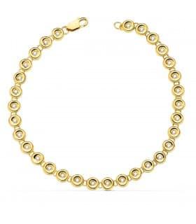 Pulsera Riviere Diamantes Oro Amarillo 18K chatones