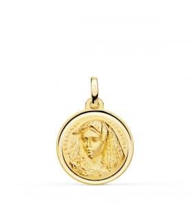 Medalla Virgen Macarena 18 Ktes 18 mm