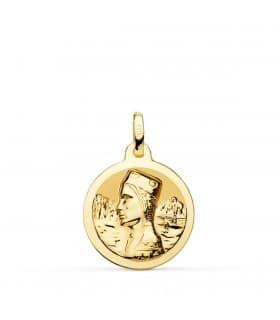 Medalla Virgen de Montserrat 18 Ktes 18 mm