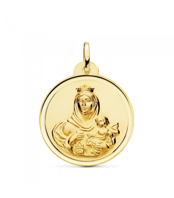 Medalla Virgen Carmen bisel 26mm