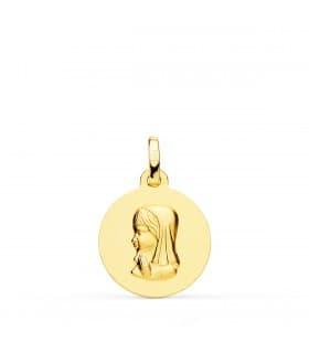 Medalla Virgen niña 18 Ktes