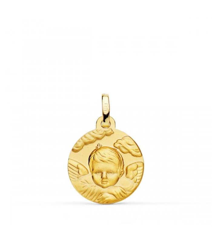 Medalla Ángel Nube Oro 18K 16mm