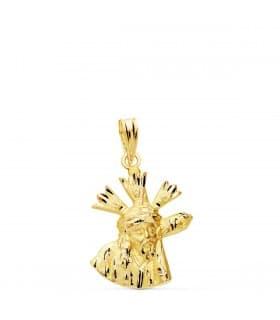 Cristo del Gran Poder Silueta Oro 18K 20mm