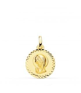 Medalla Virgen niña talla 18 Ktes