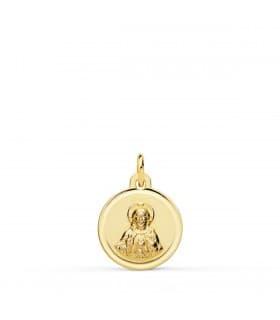 Sagrado Corazón de Jesús Bisel Oro 18K 12 mm