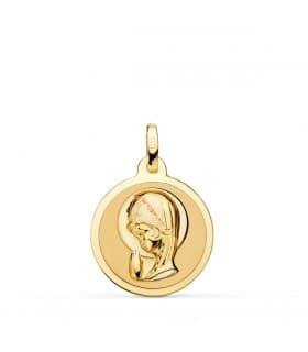 Medalla Virgen niña talla 18Ktes 18mm
