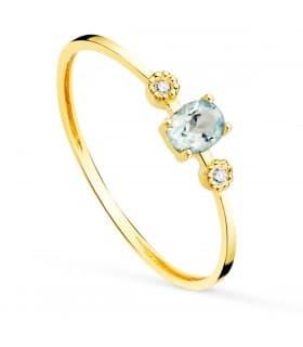 Anillo Bacall Oro 18K Diamantes 0.016 Qts.
